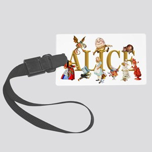 Alice and Friends in Wonderland, Large Luggage Tag