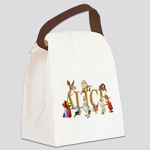 Alice and Friends in Wonderland, Canvas Lunch Bag