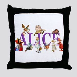 Alice and Friends in Wonderland, incl Throw Pillow