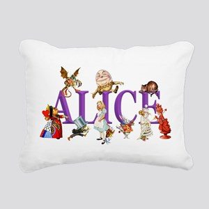 Alice and Friends in Won Rectangular Canvas Pillow