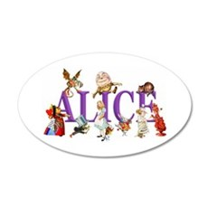 Alice and Friends in Wonderl Wall Decal