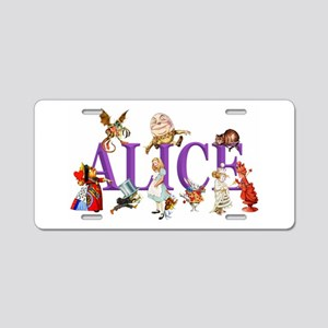 Alice and Friends in Wonder Aluminum License Plate
