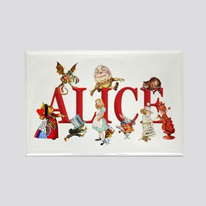 Alice and Friends in Wonderland, Rectangle Magnet