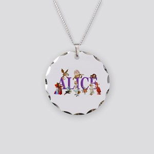 Alice and Friends in Wonderl Necklace Circle Charm