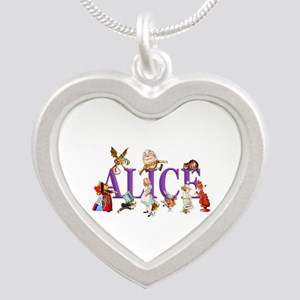 Alice and Friends in Wonderl Silver Heart Necklace