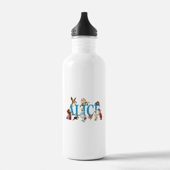 Alice and Friends in W Water Bottle