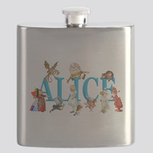 Alice and Friends in Wonderland, including t Flask