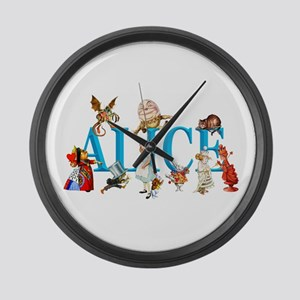 Alice and Friends in Wonderland, Large Wall Clock