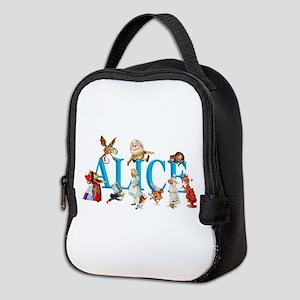 Alice and Friends in Wonderland Neoprene Lunch Bag