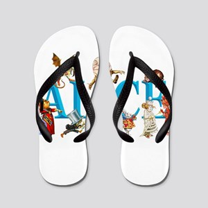 Alice and Friends in Wonderland, includ Flip Flops