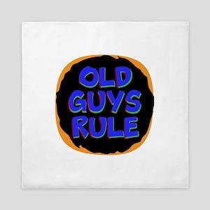 Old Guys Rule Queen Duvet