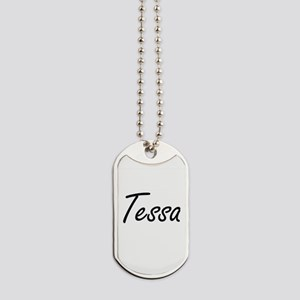 Tessa artistic Name Design Dog Tags