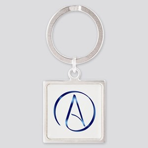 Atheism Symbol Square Keychain
