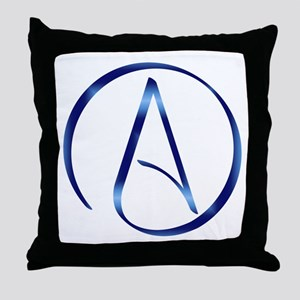 Atheism Symbol Throw Pillow