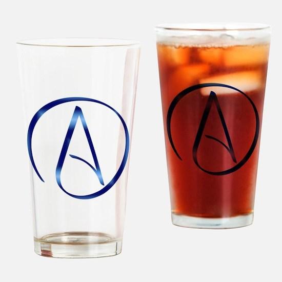 Atheism Symbol Drinking Glass