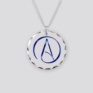 Atheism Symbol Necklace Circle Charm