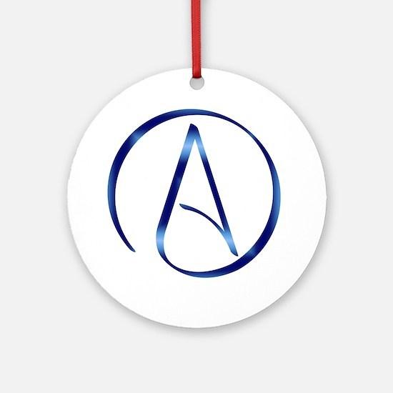 Atheism Symbol Round Ornament