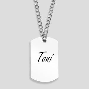Toni artistic Name Design Dog Tags