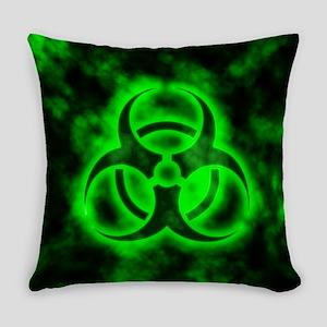 Green Biohazard Symbol Everyday Pillow