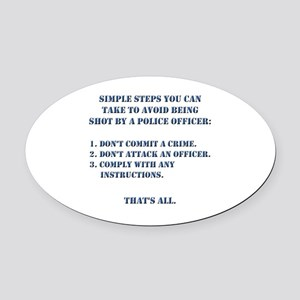 Simple Steps Oval Car Magnet