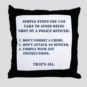 Simple Steps Throw Pillow