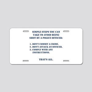 Simple Steps Aluminum License Plate