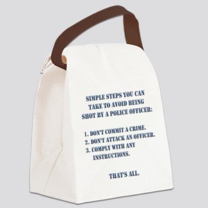 Simple Steps Canvas Lunch Bag