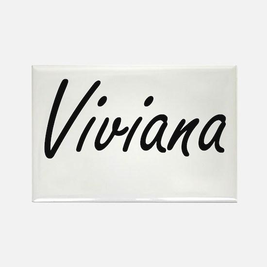 Viviana artistic Name Design Magnets