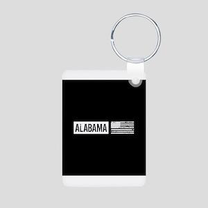 U.S. Flag: Alabama Aluminum Photo Keychain