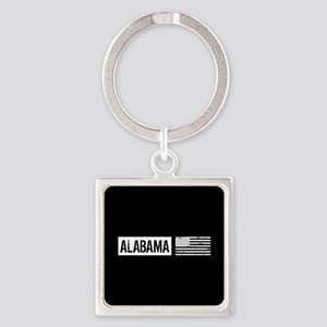 U.S. Flag: Alabama Square Keychain