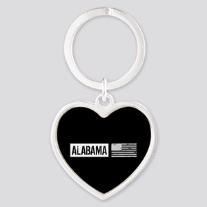 U.S. Flag: Alabama Heart Keychain