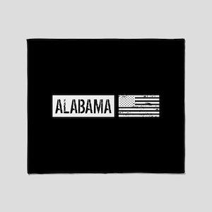 U.S. Flag: Alabama Throw Blanket