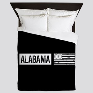 U.S. Flag: Alabama Queen Duvet