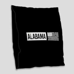 U.S. Flag: Alabama Burlap Throw Pillow
