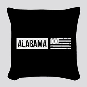 U.S. Flag: Alabama Woven Throw Pillow
