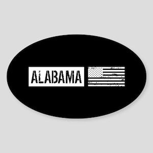 U.S. Flag: Alabama Sticker (Oval)