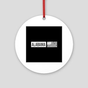 U.S. Flag: Alabama Ornament (Round)