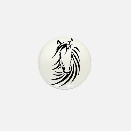 Black Horse Mini Button
