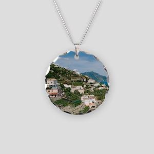 Itally - Amalfi Coastline  Necklace Circle Charm
