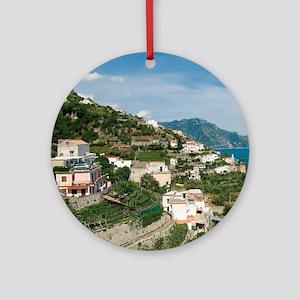 Itally - Amalfi Coastline  Round Ornament