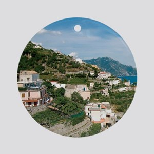 Itally - Amalfi Coastline  Round Ornament
