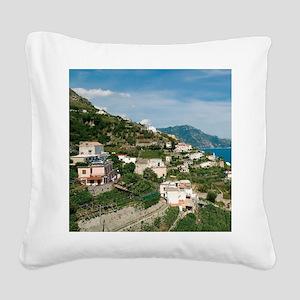 Itally - Amalfi Coastline  Square Canvas Pillow
