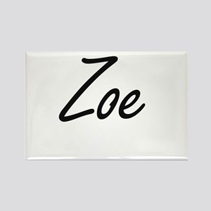 Zoe artistic Name Design Magnets