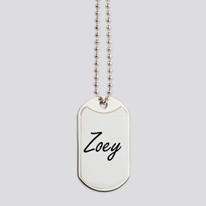 Zoey artistic Name Design Dog Tags