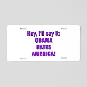Obama Hates Aluminum License Plate