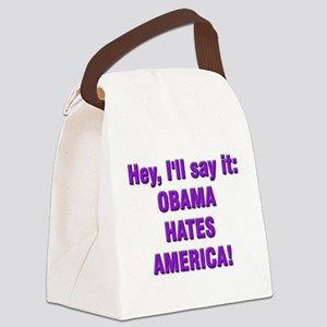 Obama Hates Canvas Lunch Bag