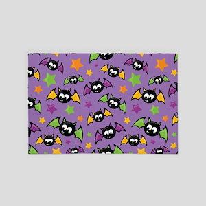 Purple Bat Pattern 4' x 6' Rug