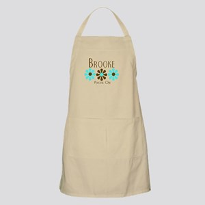 Brooke - Blue/Brown Flowers BBQ Apron