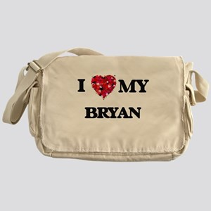 I Love MY Bryan Messenger Bag