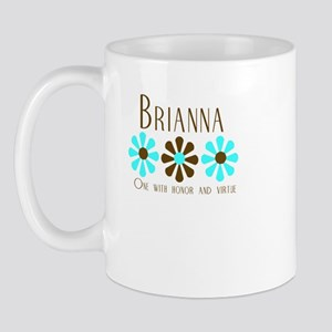 Brianna - Blue/Brown Flowers Mug